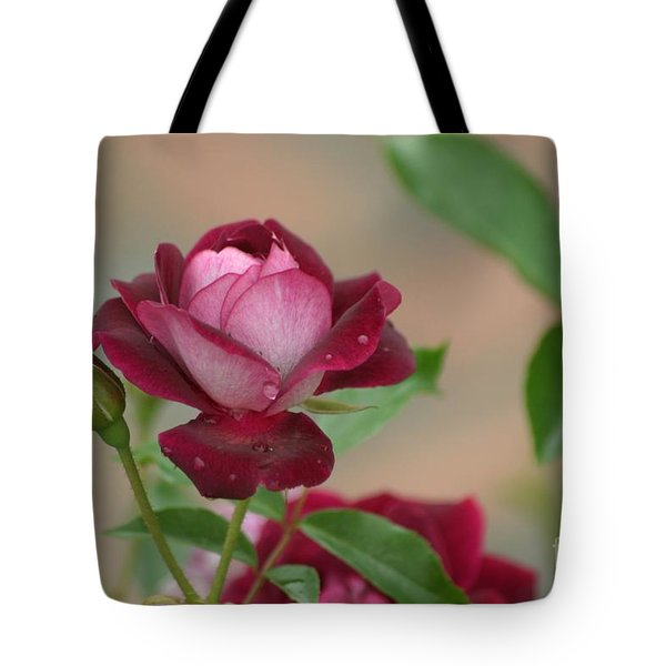 Burgundy Iceberg Tote Bag by Living Color Photography Lorraine Lynch