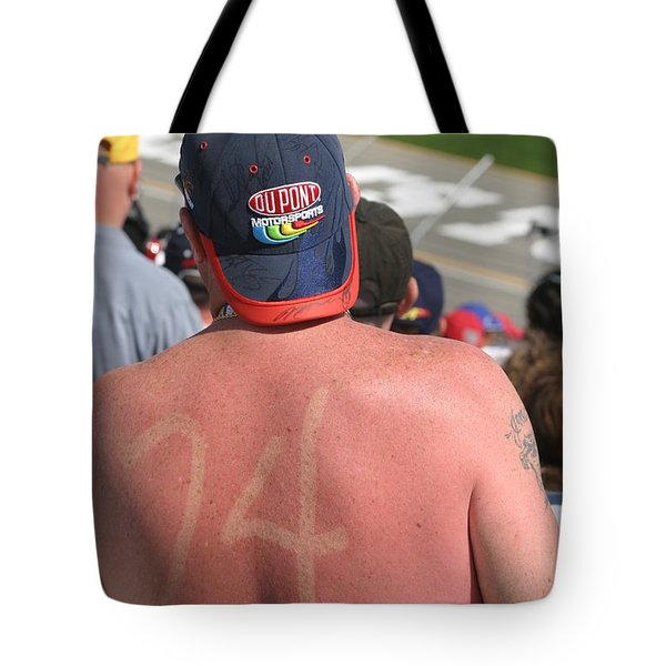 Burned Into His Back 24 Tote Bag by Kym Backland