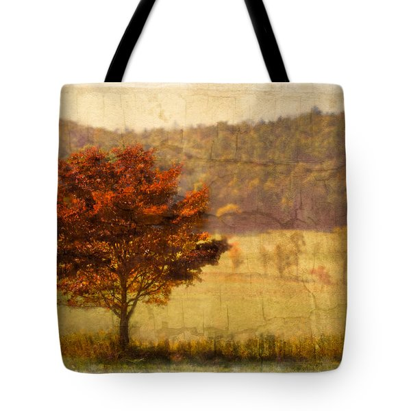 Burning Bush Tote Bag by Debra and Dave Vanderlaan