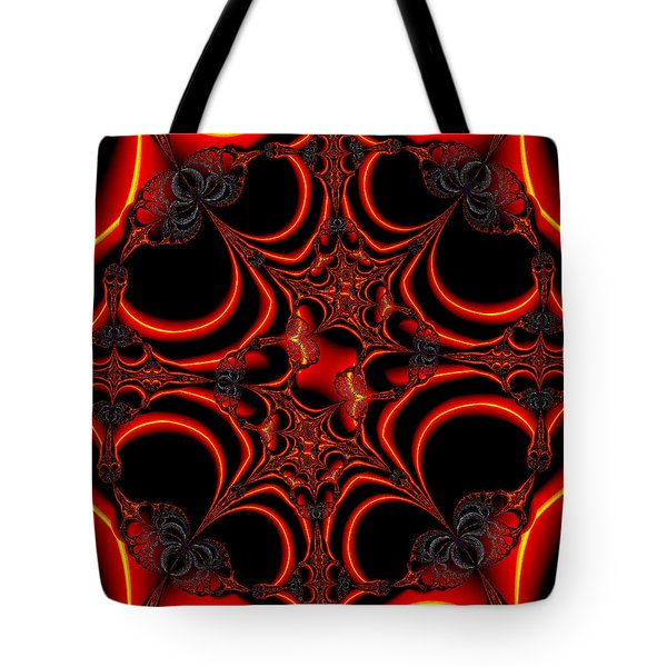 Tote Bag featuring the digital art Burning Function by Ester  Rogers