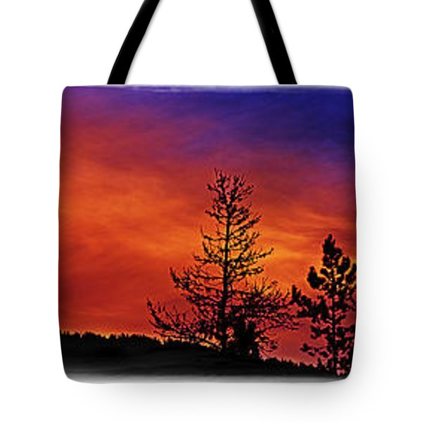 Tote Bag featuring the photograph Burning Sunrise by Janie Johnson