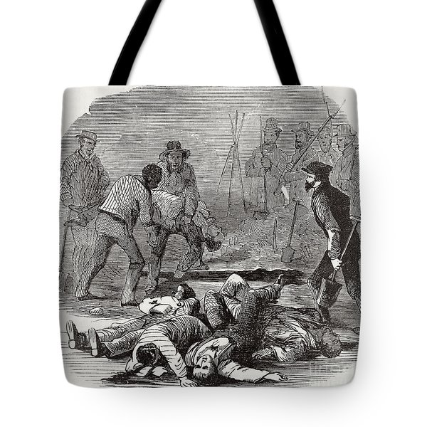 Burying The Dead After John Browns Tote Bag by Photo Researchers