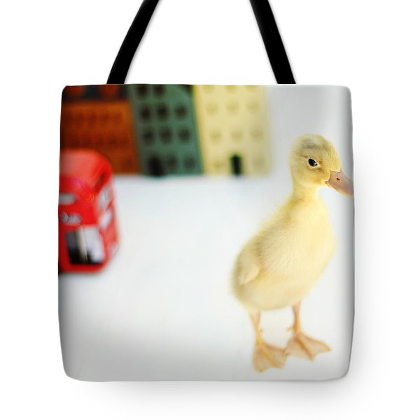 Bus Stop Tote Bag by Amy Tyler