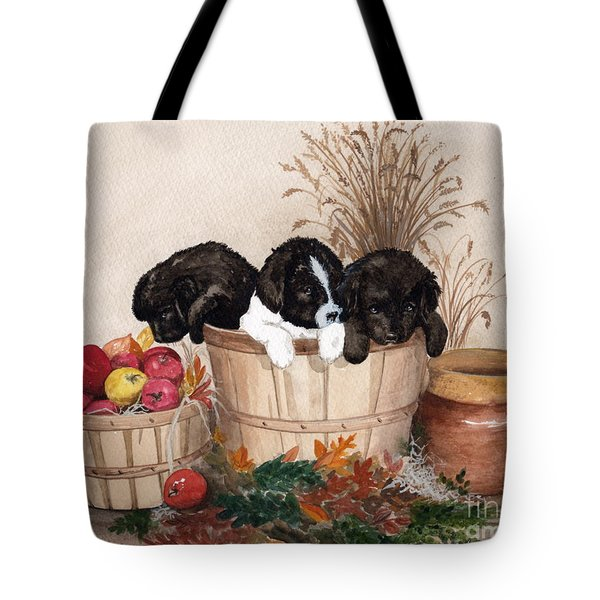 Tote Bag featuring the painting Bushel Of Fun  by Nancy Patterson