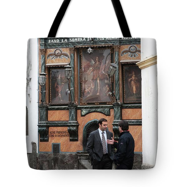 Tote Bag featuring the photograph Business And Blessings by Lorraine Devon Wilke
