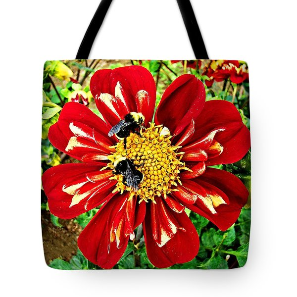 Tote Bag featuring the photograph Busy Bees by Nick Kloepping
