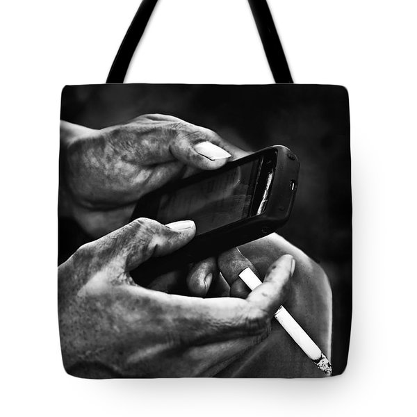 Busy Hands Tote Bag by Charuhas Images