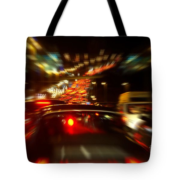 Busy Highway Tote Bag by Carlos Caetano