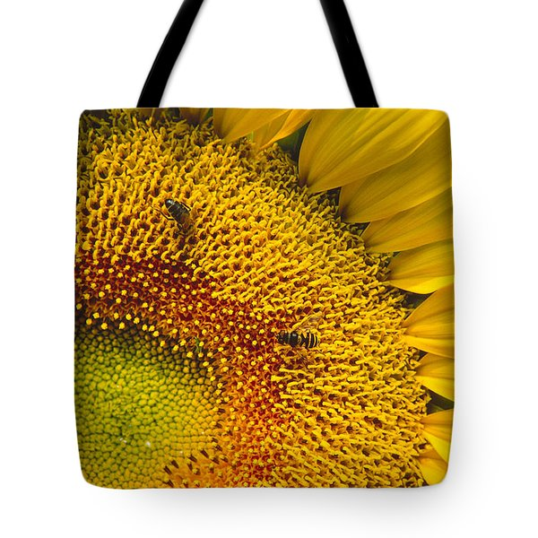 Busy Sunflower Tote Bag
