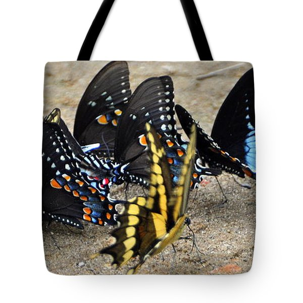Butterfles And More Butterflies Tote Bag by Marty Koch