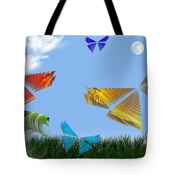 Butterflies Are Free To Fly Tote Bag by Andee Design