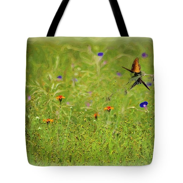 Butterflies Making Love In The Meadow Tote Bag