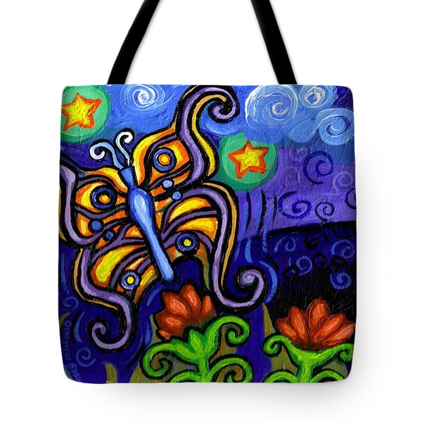 Butterfly At Dusk Tote Bag by Genevieve Esson