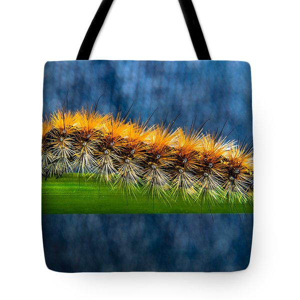 Butterfly Caterpillar Larva On The Stem Tote Bag