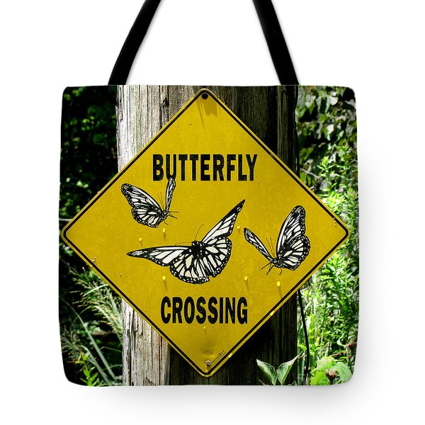 Butterfly Crossing Tote Bag