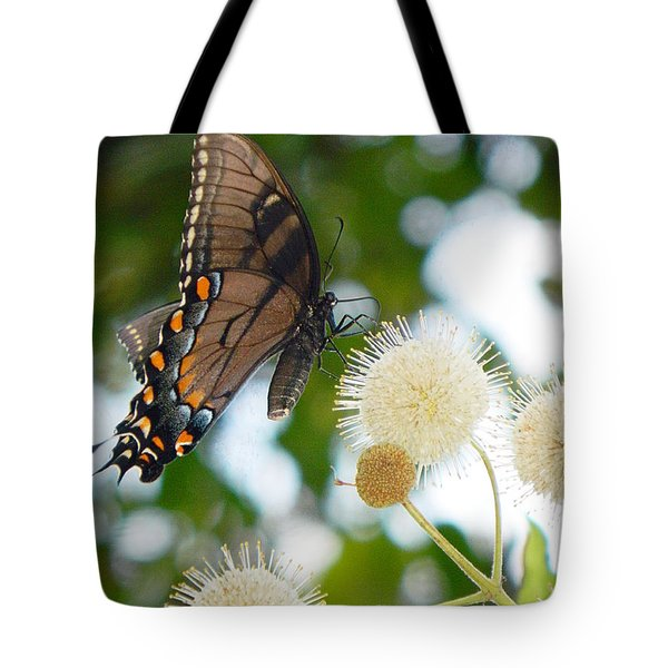 Tote Bag featuring the photograph Butterfly by Ester  Rogers