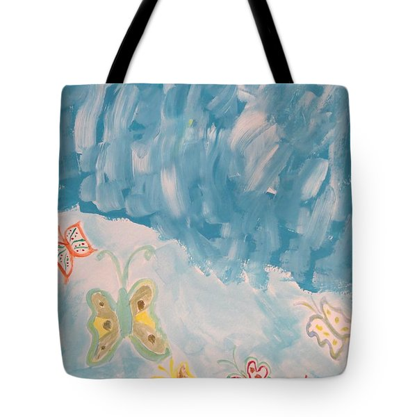 Tote Bag featuring the painting Butterfly Flight by Sonali Gangane