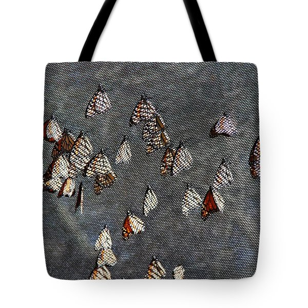 Tote Bag featuring the photograph Butterfly Gathering by Tam Ryan