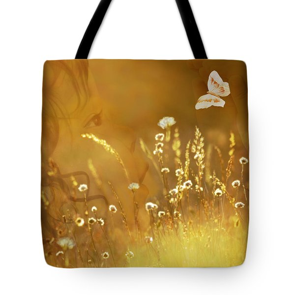 Butterfly Kiss Tote Bag by Torie Tiffany
