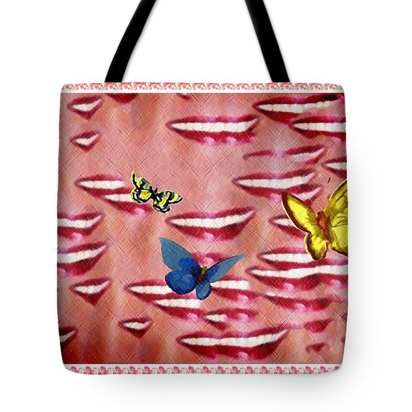 Butterfly Kisses Tote Bag by Bill Cannon