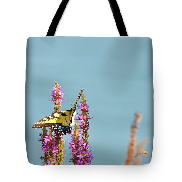 Butterfly Morning Tote Bag by Bill Cannon