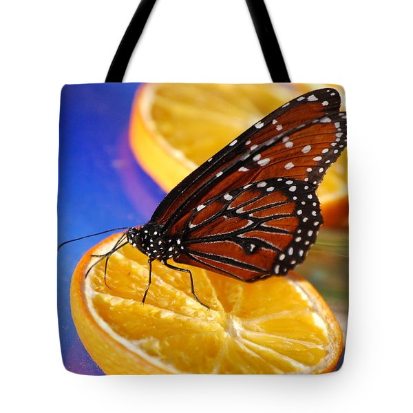 Tote Bag featuring the photograph Butterfly Nectar by Tam Ryan