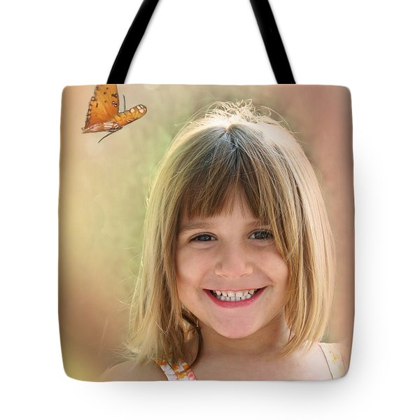 Butterfly Smile Tote Bag