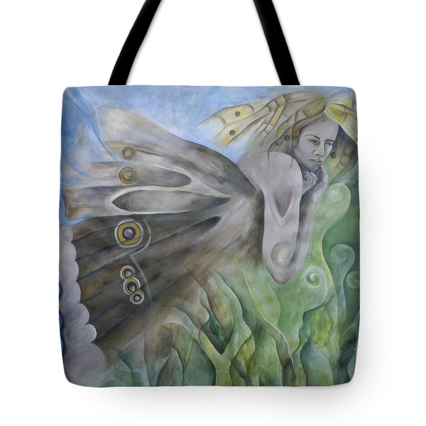 Butterfly Woman Costa Rica Tote Bag by Bob Christopher