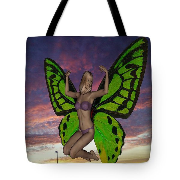 Butterfly Woman Tote Bag by Matthew Lacey
