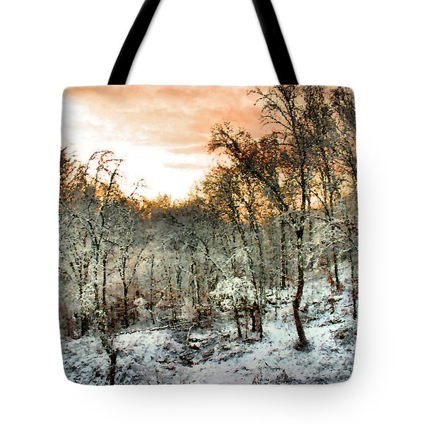 By Dawn's Early Light Tote Bag by Kristin Elmquist