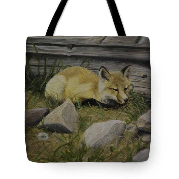Tote Bag featuring the painting By The Den by Tammy Taylor