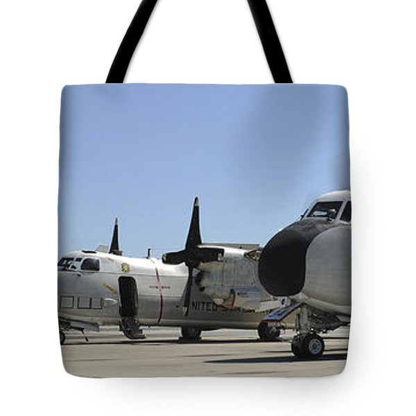 C-2a Greyhound Aircraft Start Tote Bag by Stocktrek Images