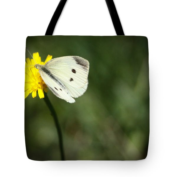 Cabbage Butterfly Tote Bag by Theresa Johnson