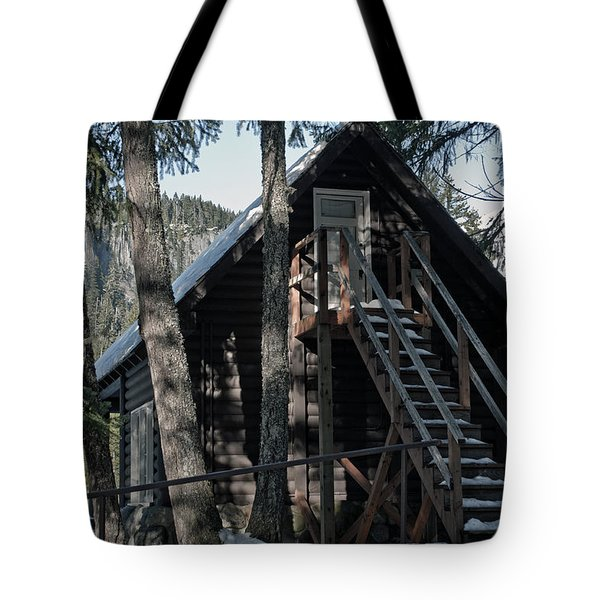 Tote Bag featuring the photograph Cabin Get Away by Tikvah's Hope