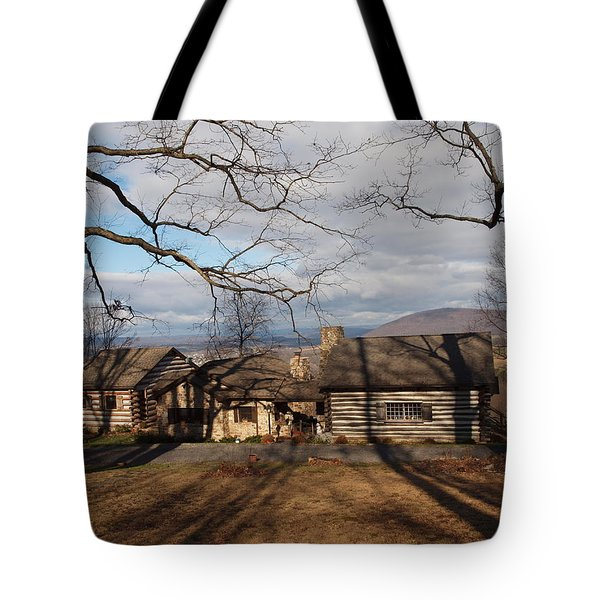 Cabin In The Woods Tote Bag by Robert Margetts