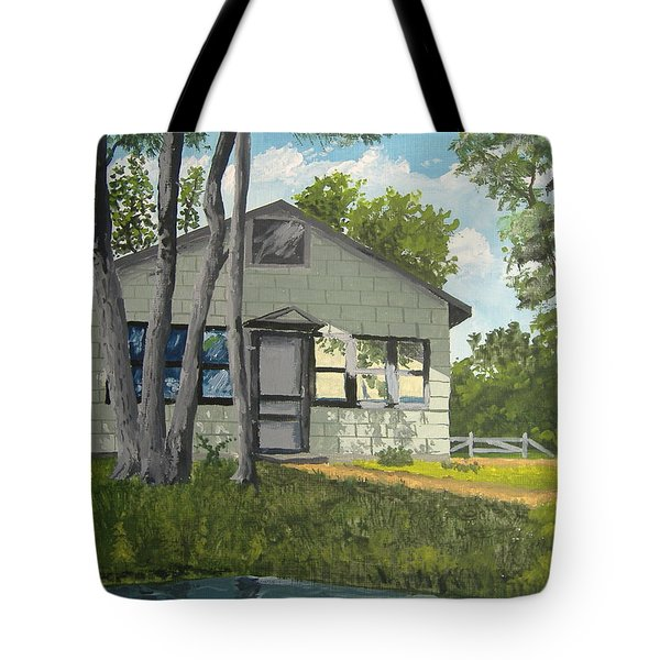 Cabin Up North Tote Bag by Norm Starks