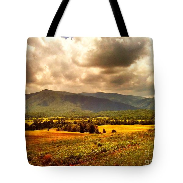 Cades Cove Tote Bag by Janice Spivey