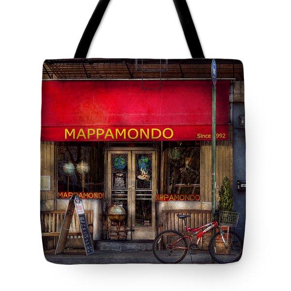 Cafe - Ny - Chelsea - Mappamondo  Tote Bag by Mike Savad