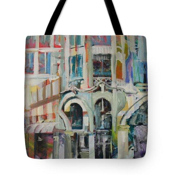Cafe In Paris Tote Bag by Carol Mangano