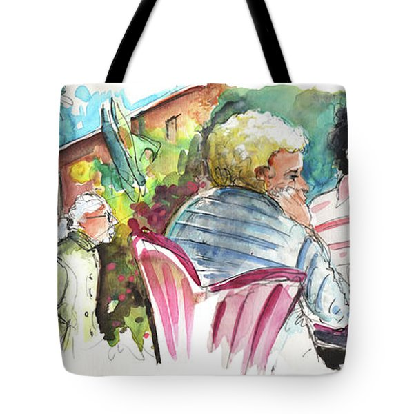 Cafe Life In Spain 03 Tote Bag by Miki De Goodaboom
