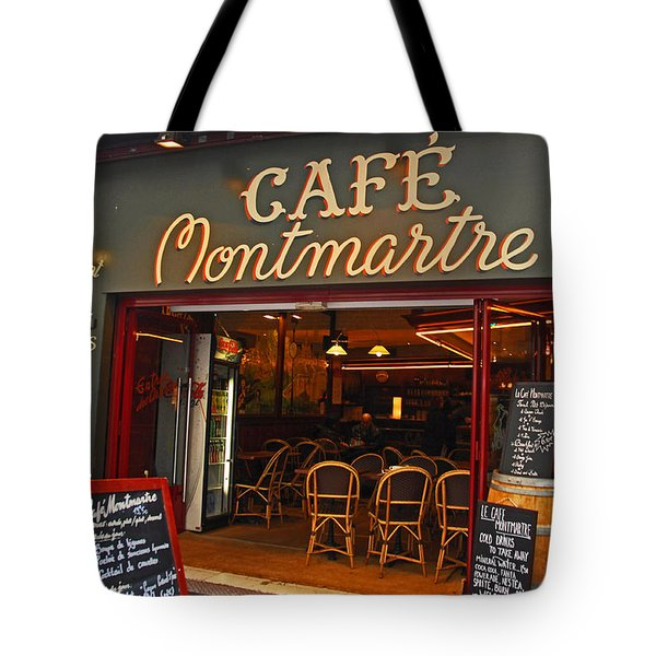 Cafe Montmartre Tote Bag by Bob and Nancy Kendrick