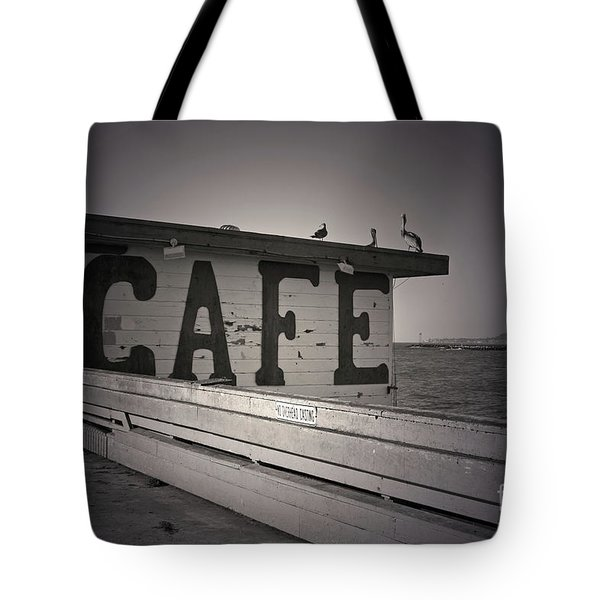 Cafe On The Pier Tote Bag