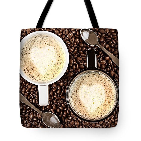 Tote Bag featuring the photograph Caffe Latte For Two by Gert Lavsen