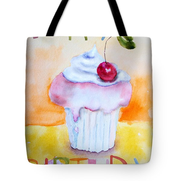 Cake With Insription Happy Birthday Tote Bag