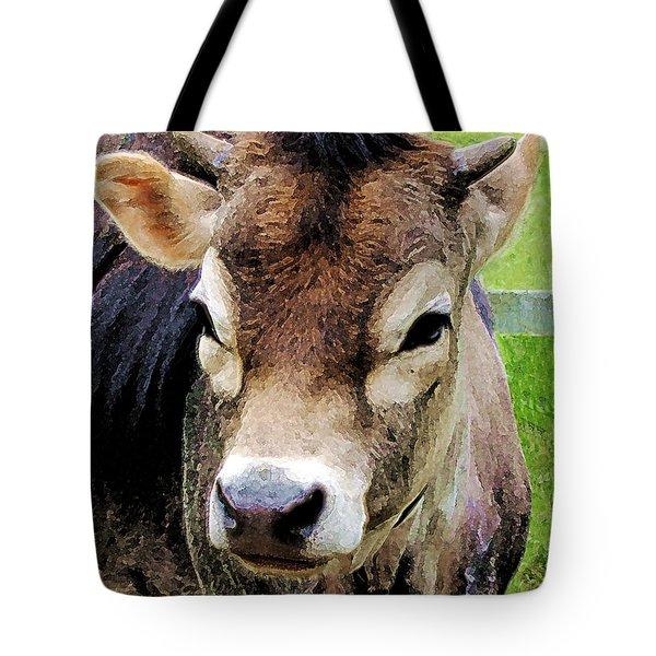 Calf Closeup Tote Bag by Susan Savad