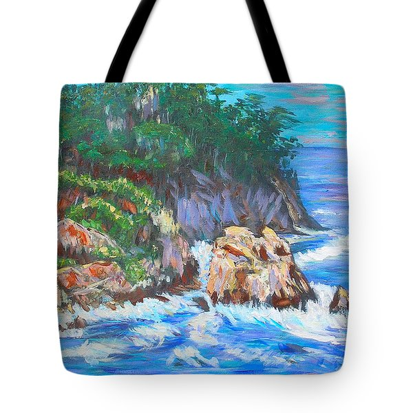 California Coast Tote Bag by Carolyn Donnell