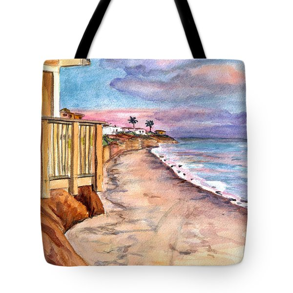 Tote Bag featuring the painting California Coast by Clara Sue Beym