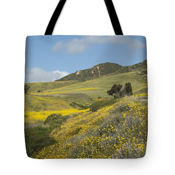California Hillside View I Tote Bag by Kathleen Grace