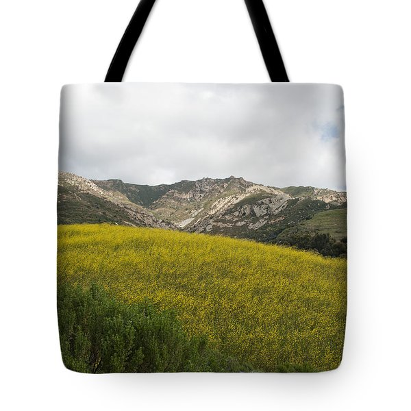 California Hillside View V Tote Bag by Kathleen Grace