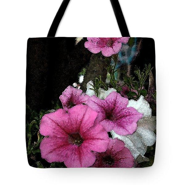 California Petunias Tote Bag by Karen Harrison